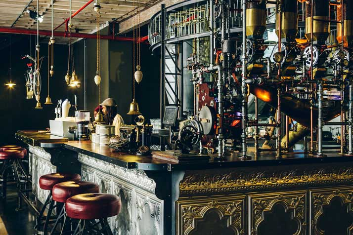 steampunk coffeeshop
